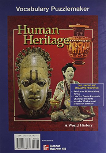 9780026639071: Vocabulary Puzzlemaker: Human Heritage