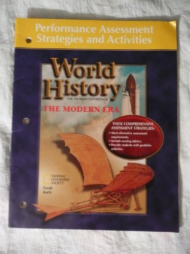 9780026639750: Performance Assessment Strategies and Activities (World History, The Human Experience)