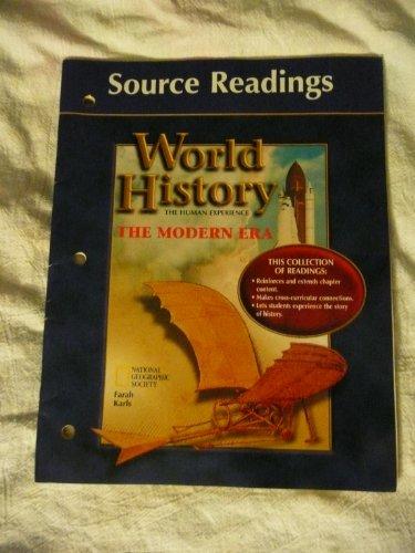 9780026639811: Source Readings World History (The Modern Era)