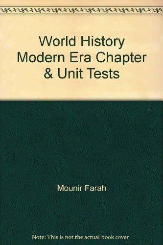 9780026639859: World History Modern Era Chapter & Unit Tests