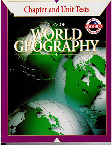 9780026643825: Glencoe World Geography: A Physical and Cultural Approach: Chapter and Unit Tests