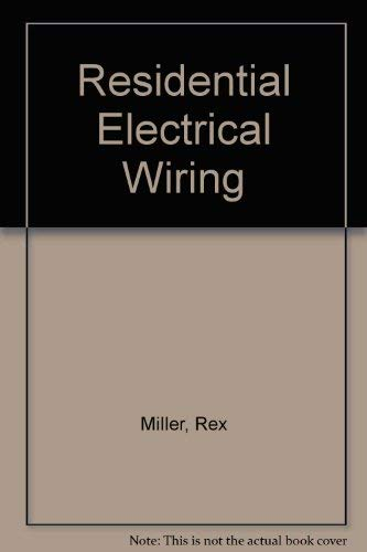 9780026656207: Residential Electrical Wiring