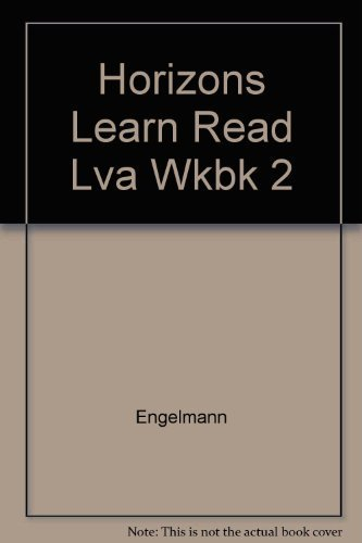 9780026741941: Horizons Learning to Read Level A Workbook 2