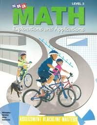 9780026742511: SRA Math Explorations and Applications, Level 3: Assessment Blackline Masters