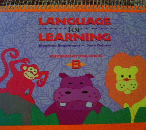 9780026746434: Language for Learning - Presentation Book B