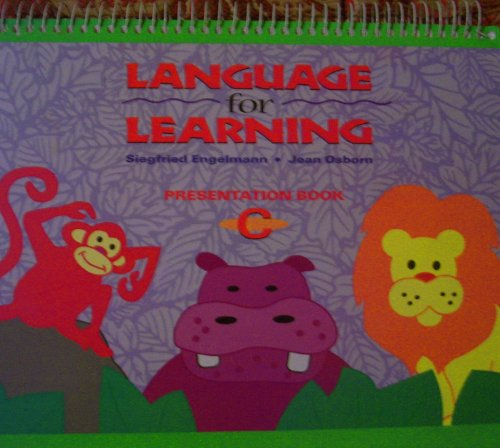 Language for Learning - Presentation Book C 9780026746441 New- 100% of proceeds from this fundraiser provides free clothing and toys to foster and displaced children through Foster Care Support