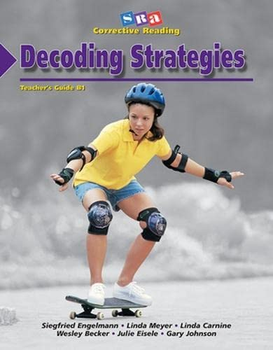9780026747783: Decoding Strategies: Decoding B1, Teacher's Guide (Corrective Reading)