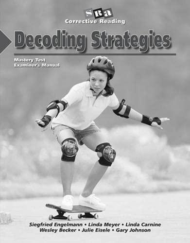 9780026747820: Corrective Reading Decoding Level B1, Mastery Test Package (Corrective Reading Decoding Series)
