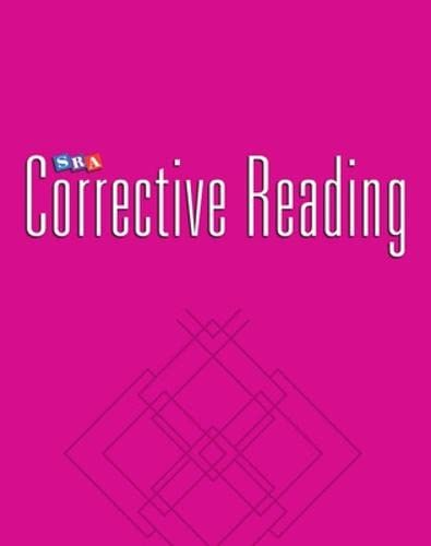9780026747899: Corrective Reading Decoding Strategies B2 Blackline Masters