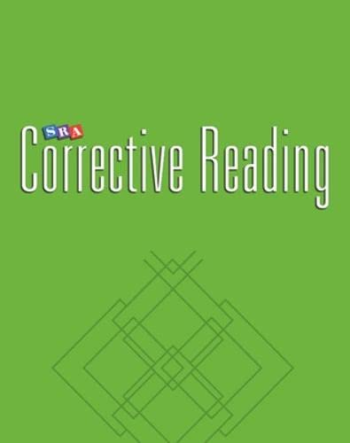 9780026747967: Corrective Reading Decoding Level C, Blackline Masters (Corrective Reading Decoding Series)