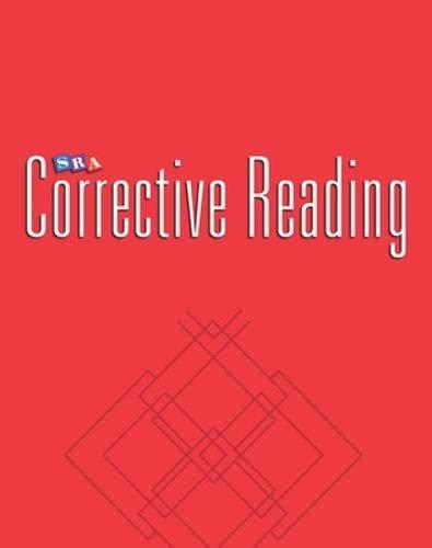 9780026748087: SRA Corrective Reading / Comprehension Skills / Enrichment Blackline Masters / Comprehension B1