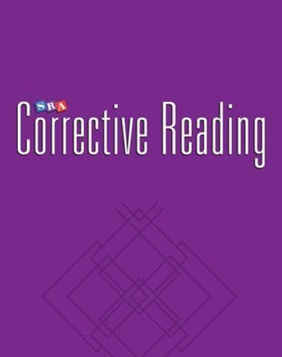 9780026748148: SRA Corrective Reading Comprehension Skills / Enrichment Blackline Masters / Comprehension B2