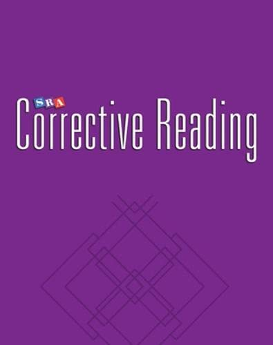 9780026748148: SRA Corrective Reading Comprehension Skills / Enrichment Blackline Masters / Comprehension B2