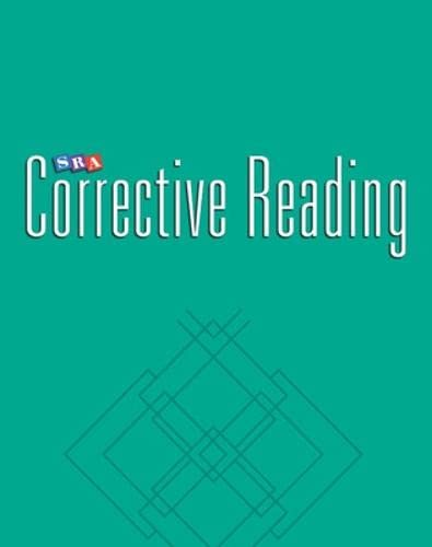 9780026748179: Corrective Reading Comprehension: Additional Teacher's Guide - Level C