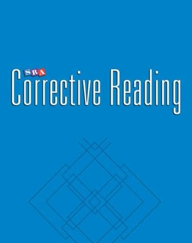 9780026748339: SRA Corrective Reading Thinking Basics Comprehension A Teacher Materials Package