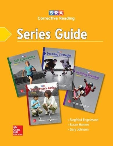 9780026748377: Corrective Reading Series Guide (Corrective Reading Comprehension Series)