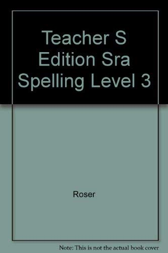 9780026749220: Teacher S Edition Sra Spelling Level 3
