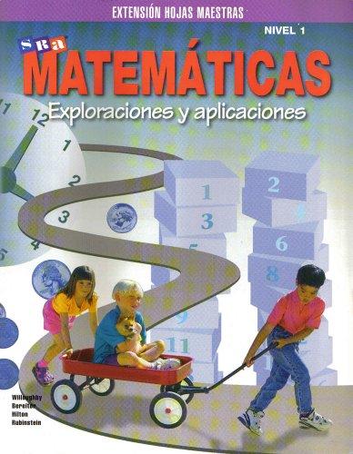 9780026750271: Matematicas Exploraciones Y Aplicaciones Nivel 1 Extension Hojas Maestras