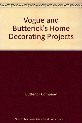 9780026779050: Vogue and Butterick's Home Decorating Projects