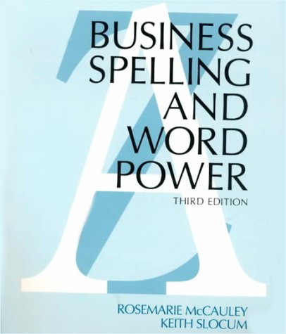 9780026782913: Business Spelling and Word Power
