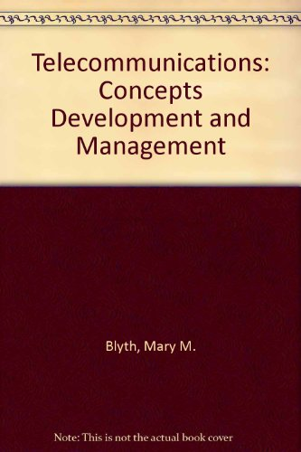 9780026808415: Telecommunications: Concepts Development and Management