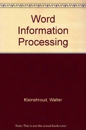 9780026810302: Word Information Processing