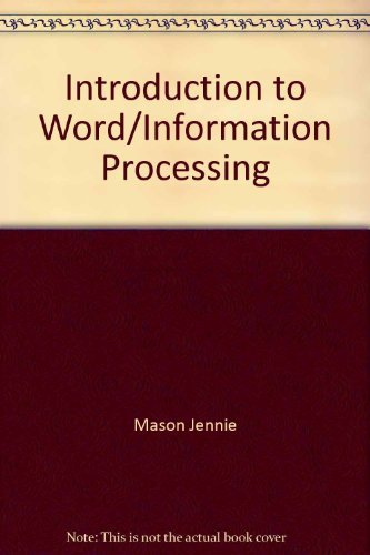 9780026829908: Introduction to word/information processing