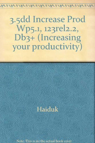 9780026830812: 3.5dd Increase Prod Wp5.1, 123rel2.2, Db3+ (Increasing your productivity)