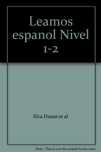 9780026836319: Leamos espanol Nivel 1-2