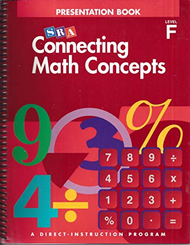 9780026844758: Connecting Math Concepts: Teacher Presentation Book 1 Level F