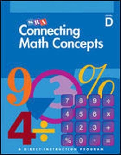 9780026846721: Connecting Math Concepts, SRA, Level D Answer Key