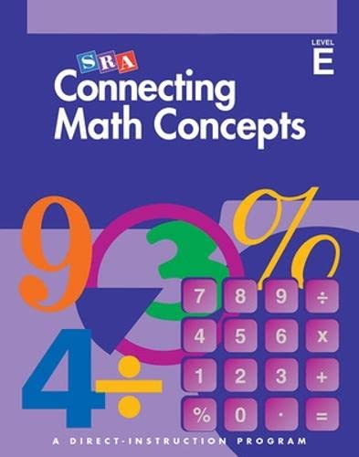 9780026846738: Connecting Math Concepts, Answer Key, Level E