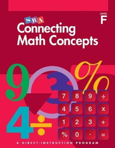 9780026846745: Connecting Math Concepts - Additional Answer Key - Level F