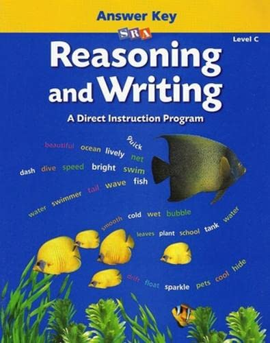9780026847759: Reasoning and Writing - Additional Answer Key - Level C