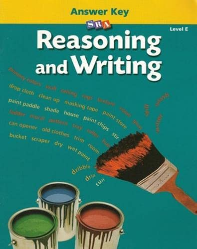 9780026847919: Reasoning and Writing - Additional Answer Key - Level E