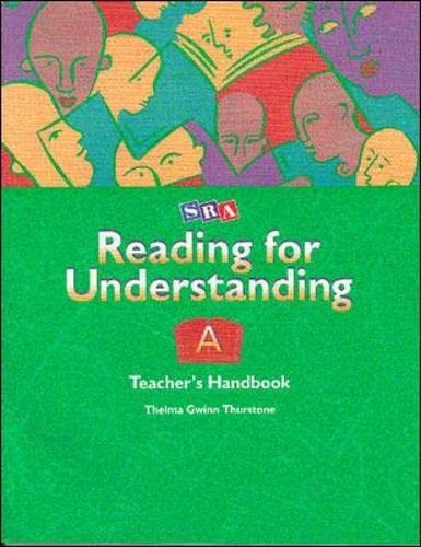 9780026849821: Reading for Understanding A - Teacher's Handbook A - Grades 1-3