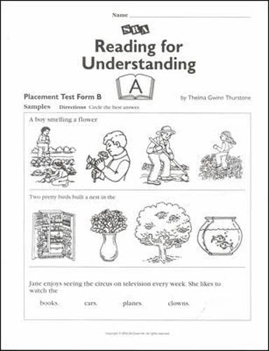 9780026849845: Reading for Understanding A - Placement Test B - Grades 1-3