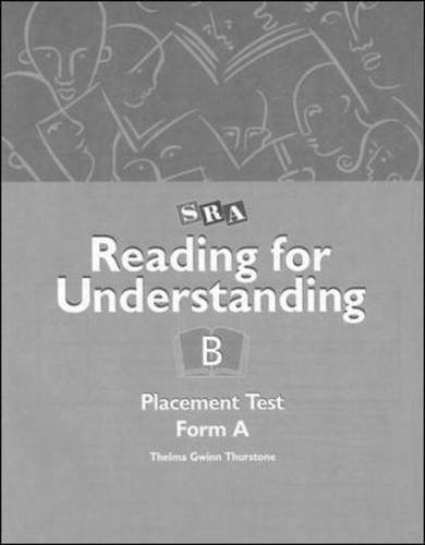 9780026850056: Reading for Understanding B - Placement Test A - Grades 3-12