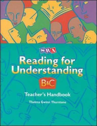 9780026850193: Reading for Understanding - Teacher's Handbook for Levels B & C - Grades 3-12