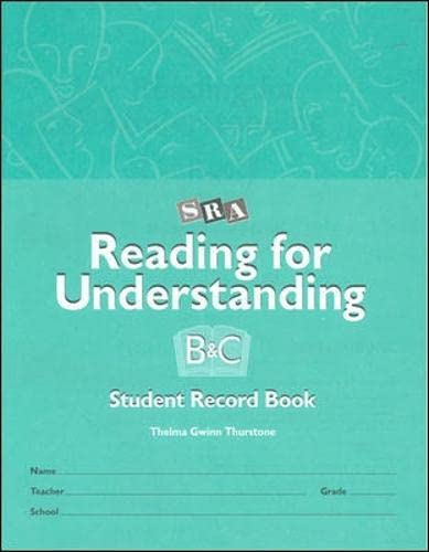 9780026850216: Reading for Understanding - Student Record Books for Levels B & C - Grades 3-12