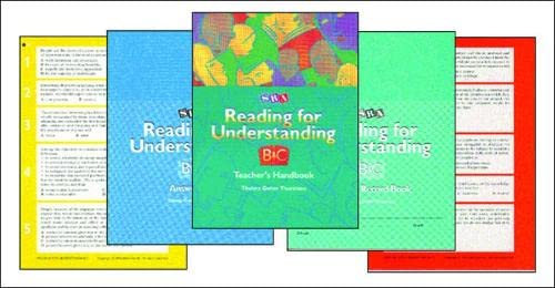 9780026850223: Reading for Understanding - Complete Program C - Grades 3-12