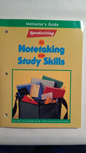 9780026851565: Speedwriting for Notetaking and Study Skills: Instructor's Guide