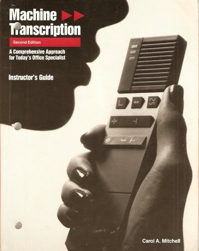 9780026854900: Machine Transcription