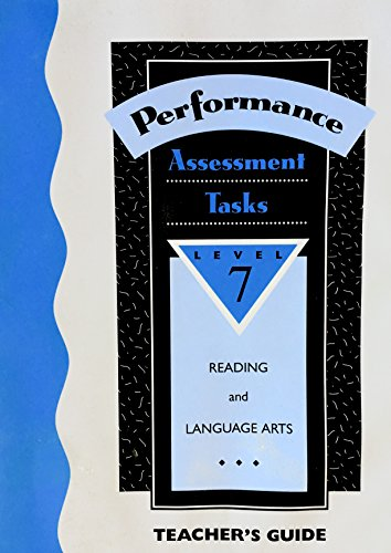 9780026857154: Performance-Based Assessment Tasks: Reading/Language Arts