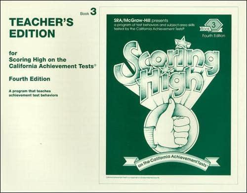 9780026857277: Scoring High on California Achievement Tests, Book 3