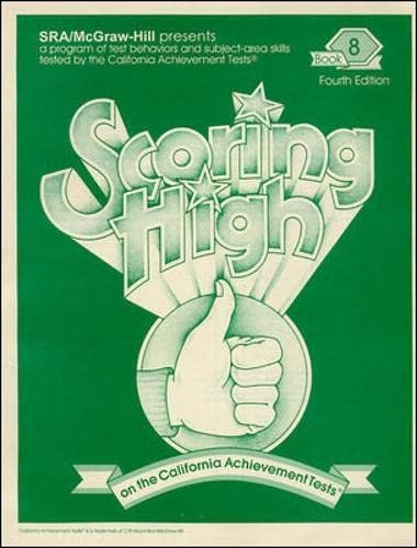 9780026857369: Scoring High on the California Achievement Tests, Book 8
