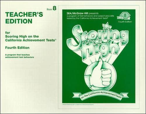 9780026857376: Scoring High CAT5 Grade 8 Teacher Edition