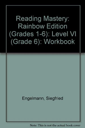 9780026864145: Reading Mastery 6 Workbook, Rainbow Edition