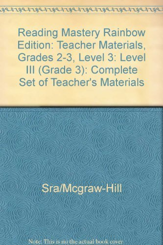 9780026864527: Reading Mastery - Level 3 Teacher's Material - Includes 2 Presentation Books and Teacher's Guide (Reading Mastery: Rainbow Edition)