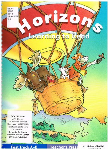 9780026875011: Horizons Learning to Read: Fast Track A-B Teacher's Presentation Book 1